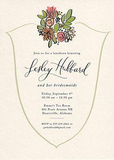 Lesley Hubbard Bridesmaid Luncheon Invite
