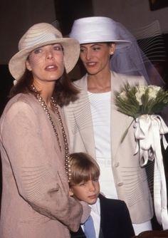 Carolina en la boda de su amiga Ines de la Fressange en 1990.