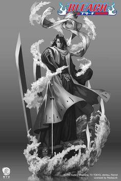 Concepts arts de Byakuya, Toshirô (Bleach) et Sai (Naruto) par Ryu Studio Bleach Manga, Bleach Art, Bleach Drawing, Renji Abarai, Ichigo Y Rukia, Sai Naruto, Naruto Shippuden, Anime Manga, Anime Art