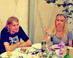 Kurt Cobain from Nirvana and Kim Gordon from Sonic Youth Kim Gordon, Nirvana Kurt Cobain, Music Icon, My Music, Rock N Roll, Kurt And Courtney, Donald Cobain, Riot Grrrl, Dave Grohl