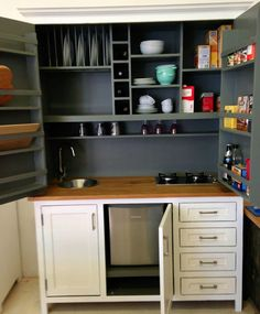 Pantry Larder A Kitchen In Cupboard Such Good Idea For Small