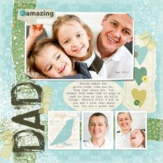 Dad Digital Scrapbooking Layout by Ariadna Wiczling   love the layout, happy sailing debilou