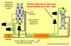 light with outlet 2 way switch wiring diagram electrical wiring rh pinterest com Switched Outlet Wiring Diagram Disposal Wiring Switched Outlet