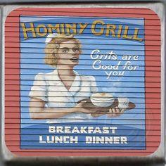 Hominy Grill, Charleston, South Carolina Marble Coaster.http://yhst-128736562315201.stores.yahoo.net/hogrchscmaco.html