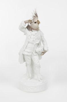 Porcelain Sculptures with Birds Heads | Atelier Les Deux Garçons