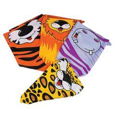 $11/dozen. Zoo Animal Bandanas - OrientalTrading.com