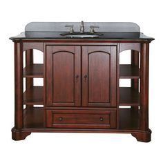 Vermont 48-Inch Vanity Only in Mahogany Finish