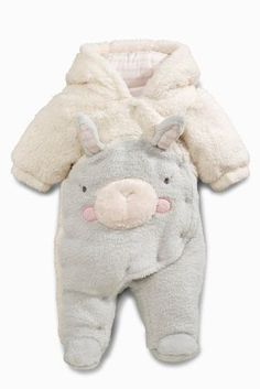 Buy Grey /Ecru Bunny Fleece All-In-One (0-18mths) online today at Next: United States of America