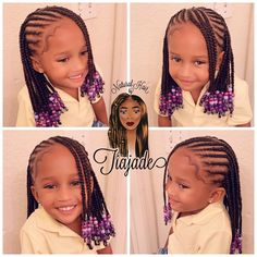 56 Dope Box Braids Hairstyles to Try - Hairstyles Trends Black Kids Hairstyles, Cute Little Girl Hairstyles, Girls Natural Hairstyles, Baby Girl Hairstyles, Kids Braided Hairstyles, Box Braids Hairstyles, Toddler Hairstyles, Teenage Hairstyles, Little Girl Braid Styles