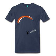 Spreadshirt Herren Fallschirm Paragliding T-Shirt, Navy, L