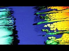 Fluid Acrylics - SWIPE with colorful fluorescent cells - YouTube
