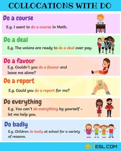 Common Collocations with DO in English