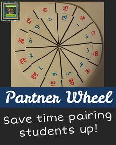 Turn and Talk or Partner Wheel for Grade ELL Students Classroom Hacks, 5th Grade Classroom, School Classroom, Future Classroom, Classroom Decor, Primary Classroom, Classroom Design, Elementary Teacher, Upper Elementary