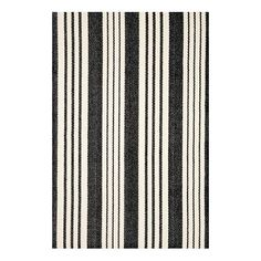 Dash & Albert Birmingham Black Rug