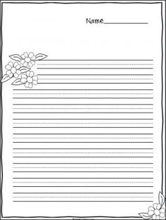 119 best lined writing paper images on pinterest in 2018 flower writing paper large print practice lines mightylinksfo