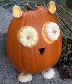 Totally doing this. It will be so cute in my dorm room :) No-Carve Pumpkin Decorating Ideas