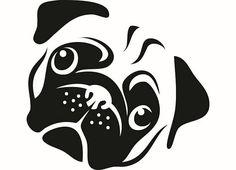 Pug 2 Dog Breed K-9 Animal Pet Hound Lap Teacup Puppy Head