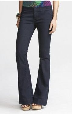 Who knew?  These Express trouser Stella jeans are such a clean fit and line-I'll def look for them! #style #fashion