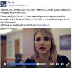 Este año Pazes me eligió como Ciudadano Ejemplar y el video se transmitió por tele local durante semanas... esto por el compromiso de ayudar.