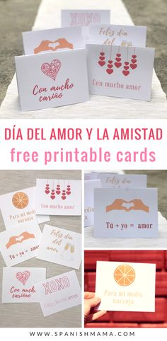 Free Valentine's day cards in Spanish. Grab these adorable printables for Día del Amor y la Amistad / Día de San Valentín with authentic phrases in Spanish. Just download, print, and go!
