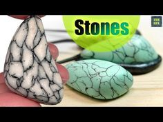 STONES from polymer clay - The easiest way! - YouTube