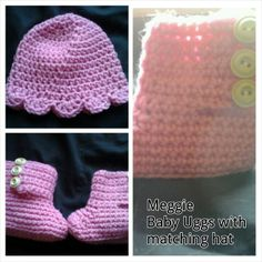 Meggie  Baby Uggs and Hat by MeeMeesBoutique on Etsy, $14.00