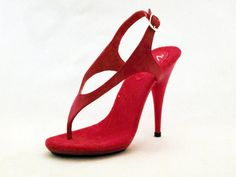 3ced122a9 VIP 5 inch Handmade Red Thong One Piece Ankle Strap Sandal High Heel Woman Foot  Fetish Shoe (Available on other high heel bottoms!