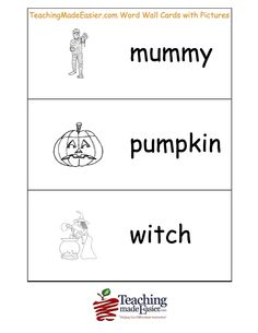 Create a Halloween Old Maid game activity with your own vocabulary ...