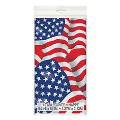 US American Flag Plastic Tablecloth 84 x 54 *** Visit the image link more details.  This link participates in Amazon Service LLC Associates Program, a program designed to let participant earn advertising fees by advertising and linking to Amazon.com.