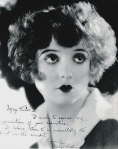 "Madge Bellamy - Signed photo to Max Factor:  ""I wish to express my appreciation of your cosmetics.  I do believe them to be undoubtedly the best on the market."""