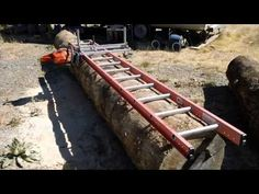 Chainsaw Lumber Mill & Wood Shed Part 1 Lumber Mill, Wood Mill, Wood Lumber, Wood Logs, Woodworking Inspiration, Woodworking Projects, Woodworking Machinery, Portable Saw Mill, Shed With Loft