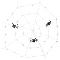 Halloween Spider Web Lights with Spiders : Target