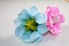 How to make an Origami Flower: Banks' rose