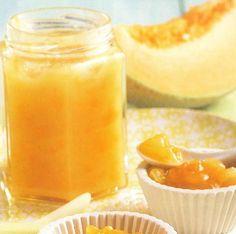 Confiture melon-banane, coco et citronnelle