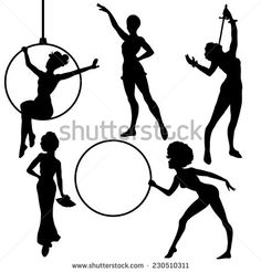 Acrobats Silhouettes Circus Performers Stock Photos, Images, & Pictures   Shutterstock