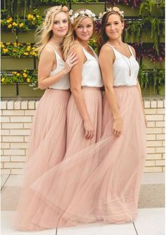 Outdoor Tule Bridesmaid Dresses