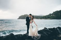 Beach wedding inspiration in St. Lucia | Image by Amber Phinisee