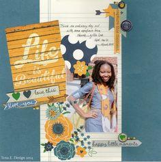 #papercraft #scrapbook #layout.  Life is Beautiful - Scrapbook.com