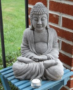 My back porch guide #Buddhism #Buddha