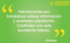#ComentariosVerídicos referentes al #SeguroSocial (como Enrique) en nuestra comunidad social. www.segurosocial.gov/espanol/serviciosporinternet