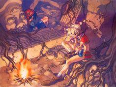 Serge and Kid artwork for CHRONO CROSS