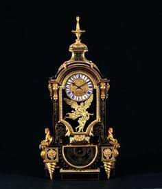 TRÈS RARE PENDULE BAROMÈTRE D'éPOQUE LOUIS XIV  D'après un dessin d'André-Charles BOULLE  (1642-1732)  Mouvement de Nicolas GRIBELIN (1637-1718)  Reçu Maître Horloger en 1675 Paris, vers 1700