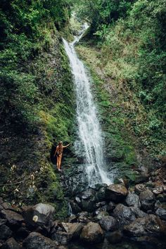 Hawaii Travel Bucketlist - Lulumahu Falls - MUST do in Oahu. Easy, family friendly hike through the jungle.