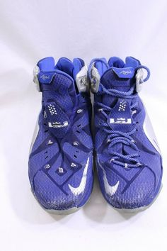 7147f52d90d3 Nike LeBron James Mens blue silver Sneakers size 12 Basketball 684593-410  Shoes