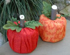 Toilet Paper Pumpkins, I used a wadded paper bag for the stem.