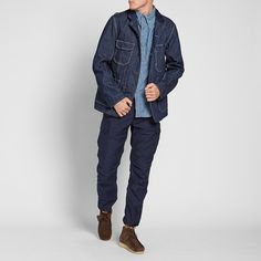 Engineered Garments Coverall Jacket (Indigo 12oz Cone Denim)