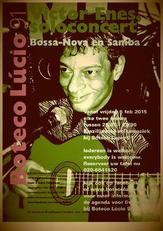 Vrijdag is Victor Enes in solo concert bij Boteco Lúcio 91- iedereen is welkom!