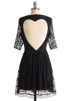 Outright Amity Dress- Lace Heart Cut Out Dress on Wanelo