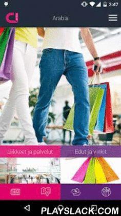 Kauppakeskus Arabia  Android App - playslack.com , Kauppakeskus Arabian mobiilipalvelu yhdistää henkilökohtaiset edut realiaikaiseen myymälä- ja tarjousvalikoimaan sekä opastaa sisätiloissa. Liity kauppakeskus Arabian asiakkaaksi. Se ei maksa mitään ja saat etuja heti alusta alkaen. Palvelu sisältää seuraavat ominaisuudet: • Kauppojen tarjoukset, aukioloajat, sijaintitiedot ja yhteystiedot • Kauppakeskuksen tuotteiden ja palveluiden haku • Uutiset sekä myymäläpalaute• Opastekartta ja…