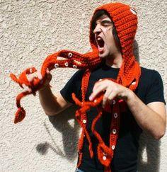 I would wear this crochet kraken whenever I feel puny or inferior.